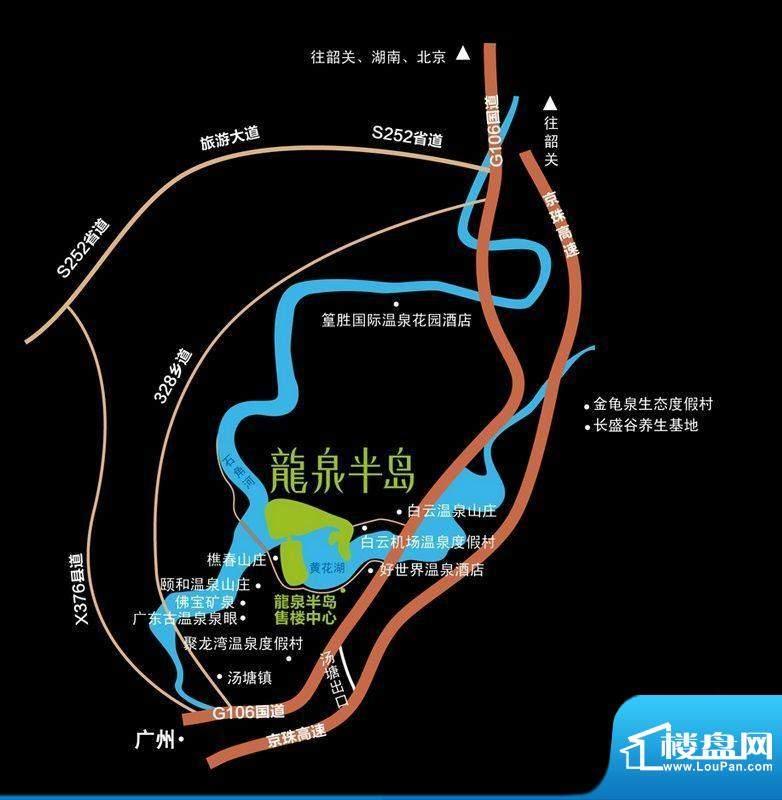 龙泉半岛交通图