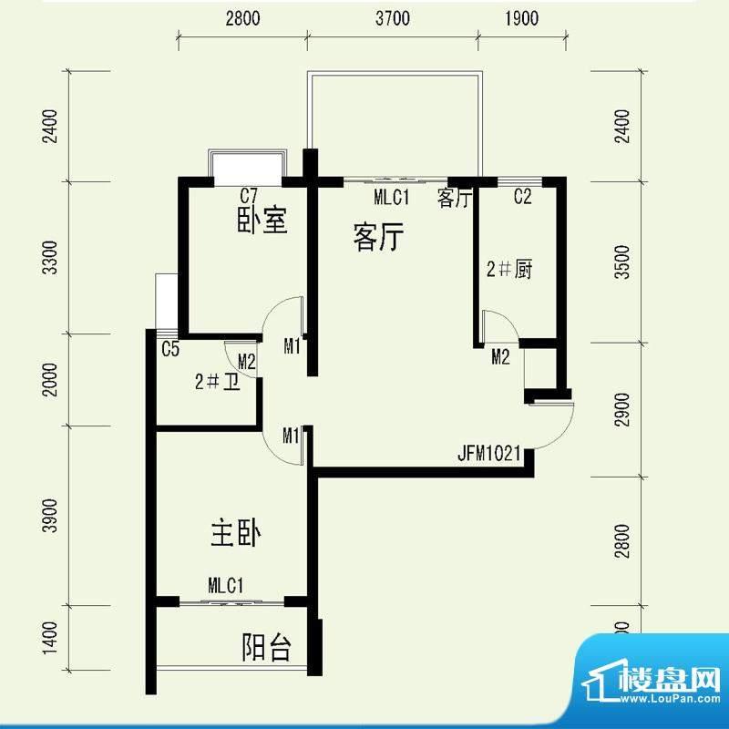 国奥天地3号楼1单元面积:87.88平米
