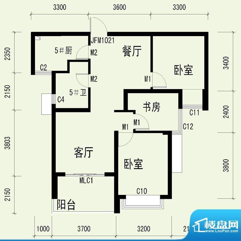 国奥天地3号楼2单元面积:88.64平米