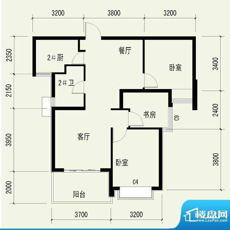 国奥天地1号楼1单元面积:92.53平米