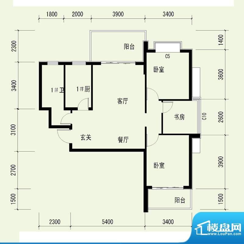 国奥天地1号楼1单元面积:87.15平米
