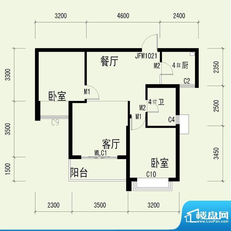 国奥天地3号楼1单元面积:78.06平米