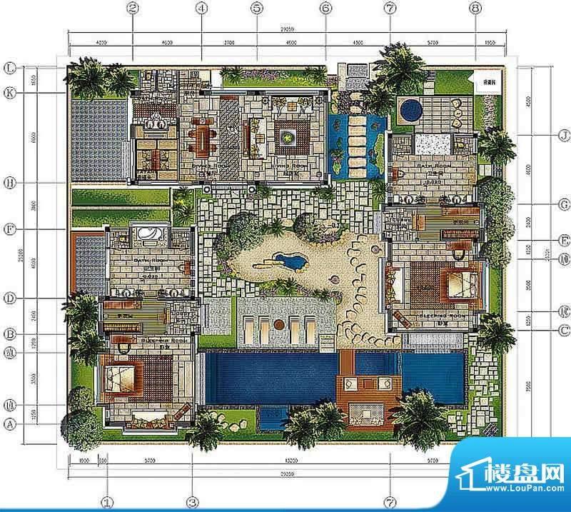香水湾1号B1a户型图面积:265.85平米