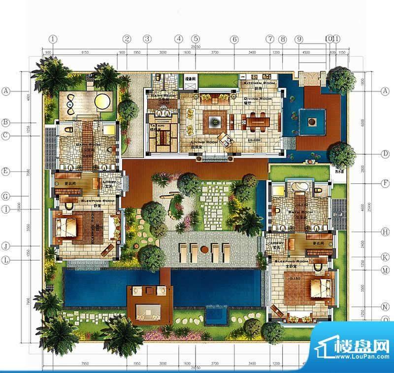 香水湾1号B1c户型图面积:0.00平米