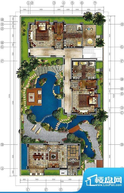 香水湾1号D3户型图 面积:276.73平米
