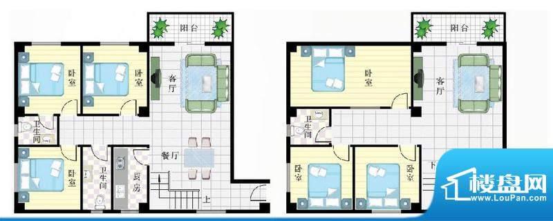 珉华百花苑7#A2、D2面积:205.18平米
