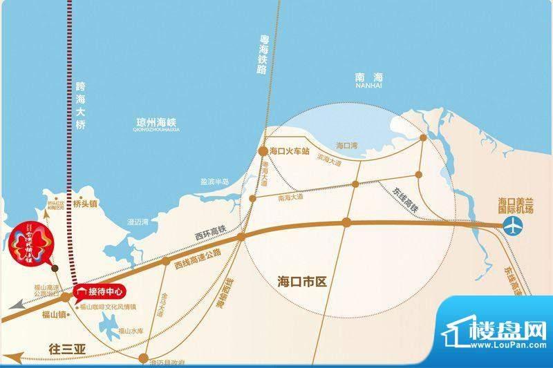 台湾风情小镇交通图