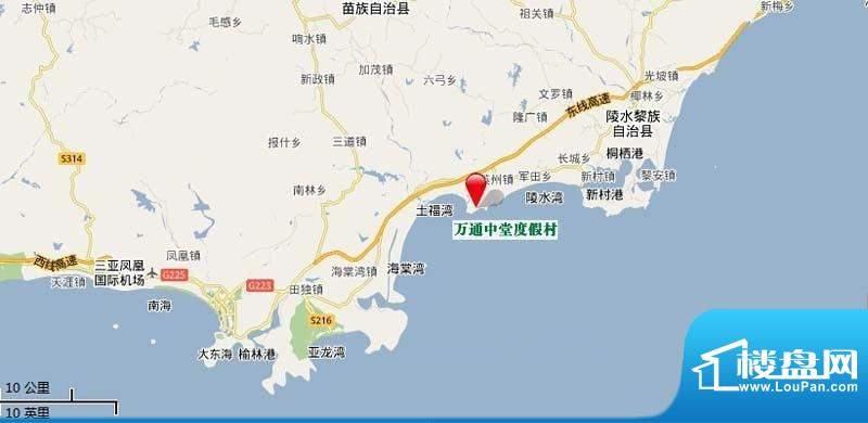 海棠福湾一号交通图