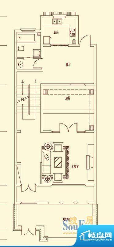 盛龙国际联排别墅LB面积:257.40平米