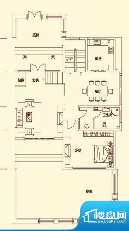 盛龙国际双拼别墅SD面积:380.07平米