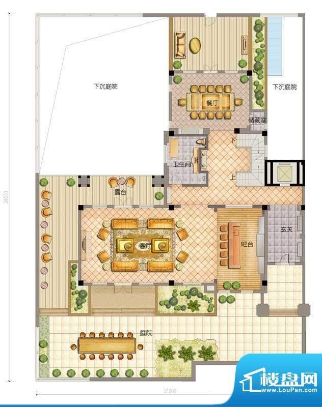 万科海云台家族别墅面积:0.00平米