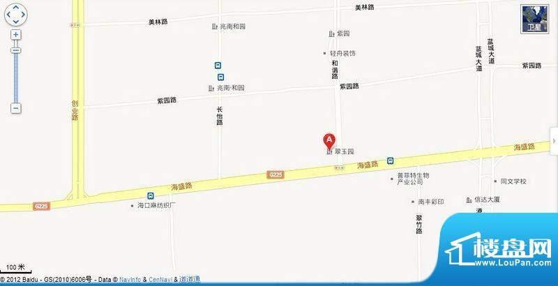 翠玉园新区交通图