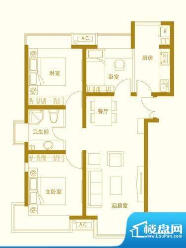 玺萌橘子洲二期J1户面积:92.00平米