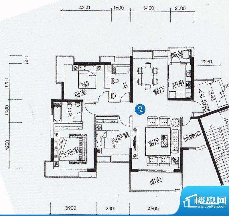 尚上名筑A1、A2栋02面积:141.00平米