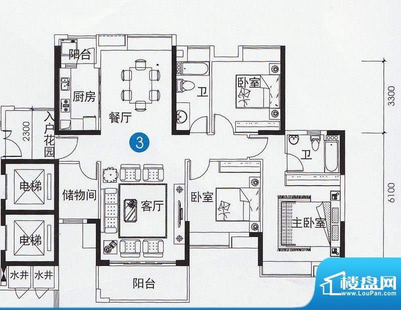 尚上名筑A1、A2栋03面积:137.00平米