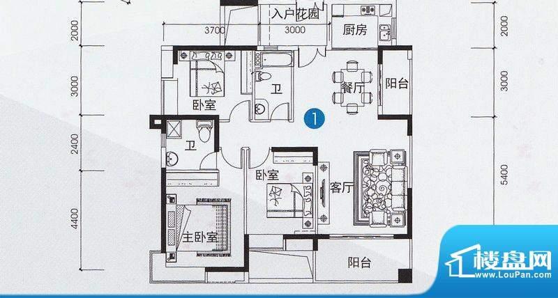 尚上名筑A1、A2栋01面积:127.00平米