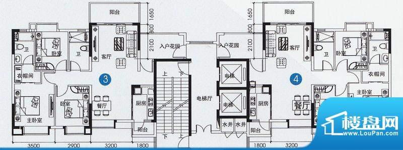 尚上名筑A6栋03、04面积:116.00平米