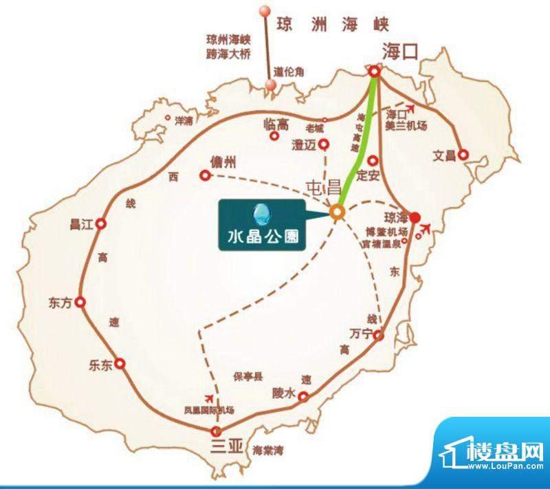 水晶公园交通图