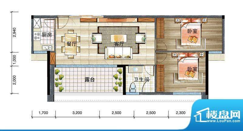 信基颐和湾G1户型 2面积:167.00平米