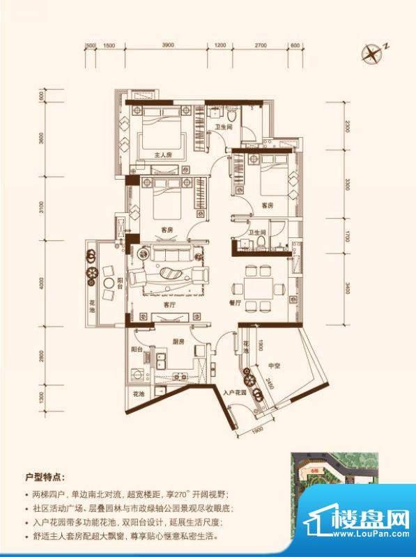 创鸿·南沙一品2栋0面积:112.00平米