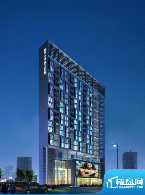 弘都商务公寓项目沿南新路透视图(2011