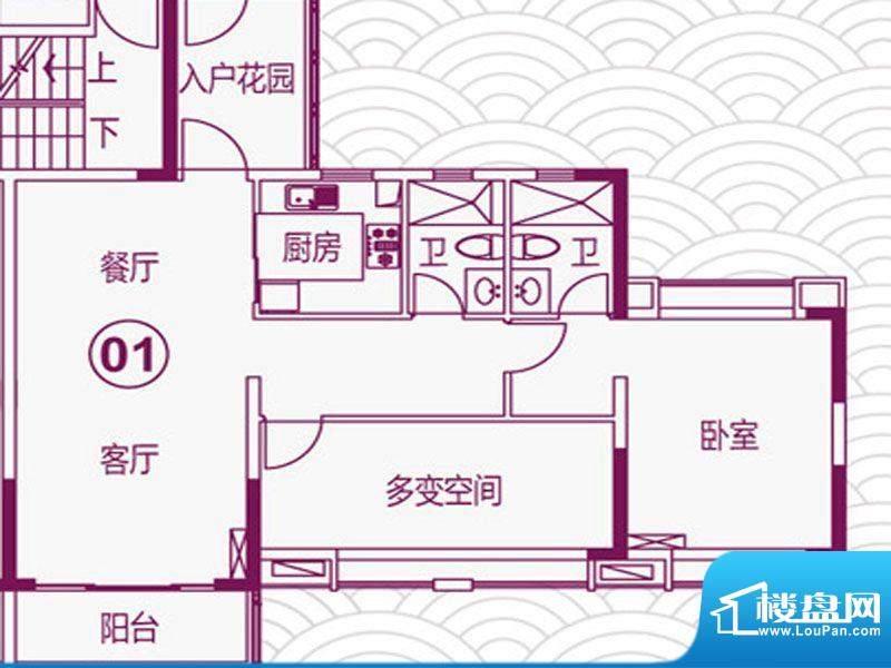 天马河壹号2期·帝景面积:102.18平米
