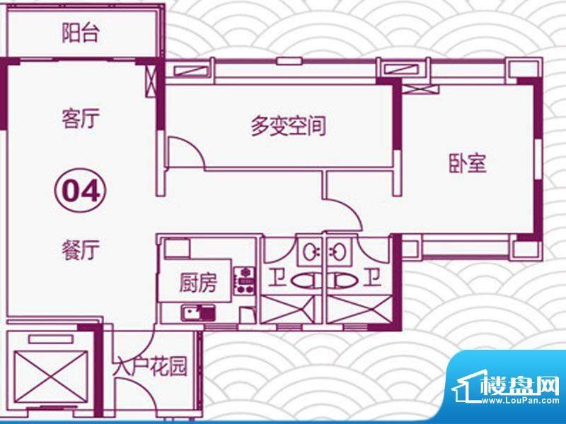 天马河壹号2期·帝景面积:101.17平米