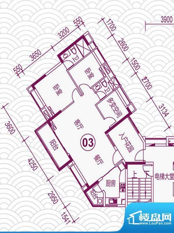 天马河壹号2期·帝景面积:102.71平米