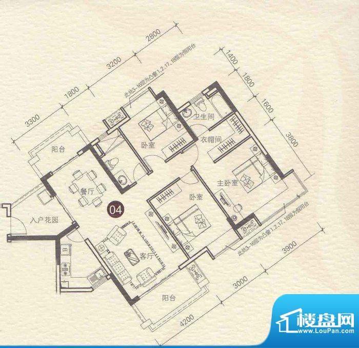 龙光棕榈水岸N19栋0面积:122.00平米