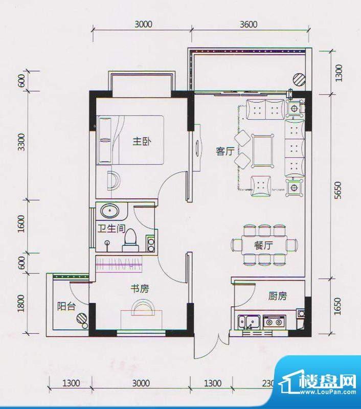学府雅苑6、7、10栋面积:60.00平米
