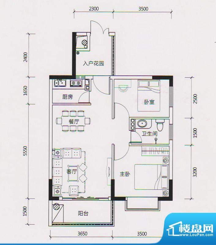 学府雅苑6、7、10栋面积:65.00平米