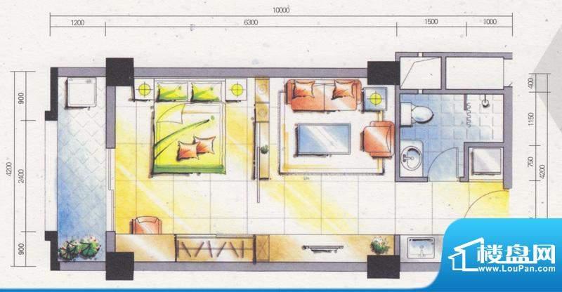 学府雅苑1期5栋标准面积:50.00平米
