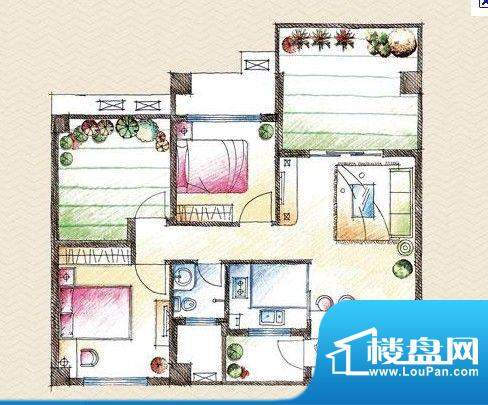 学府雅苑2室2厅户型面积:0.00平米