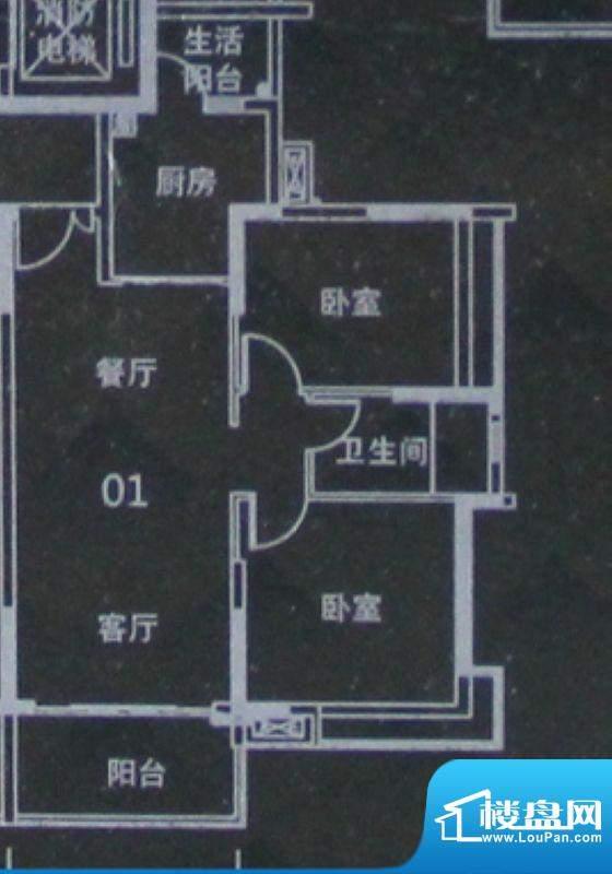 越秀·可逸阳光A6栋面积:83.00平米