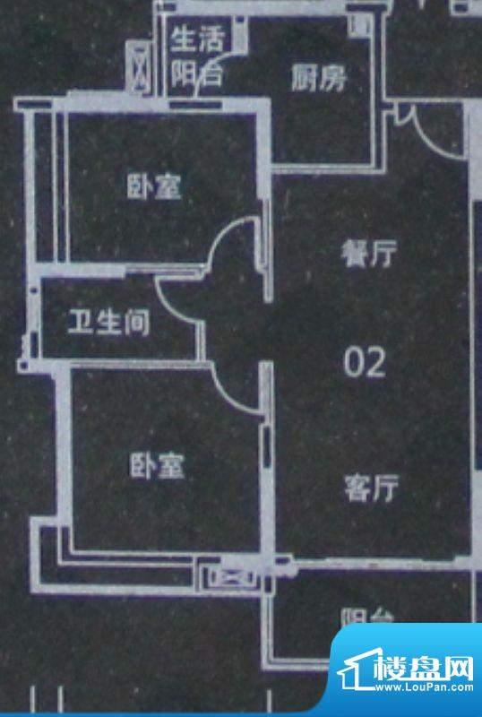 越秀·可逸阳光A6栋面积:82.00平米