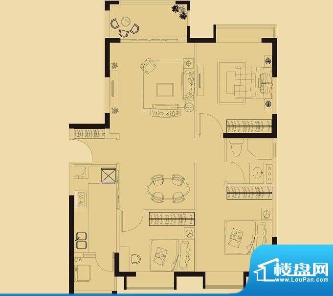 兰亭荟A1栋03户型 3面积:105.00平米