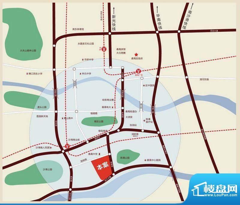 越秀·可逸江畔(商用)交通图