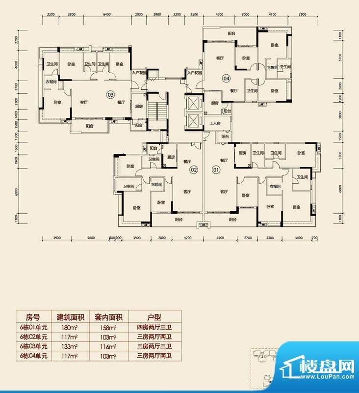越秀·可逸江畔6栋楼面积:0.00平米