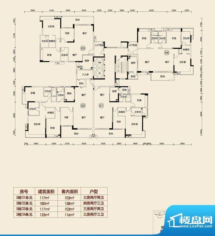 越秀·可逸江畔5栋楼面积:0.00平米