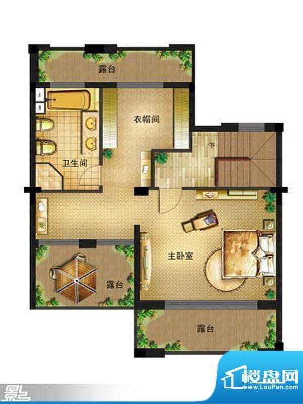 御景龙庭E2户型三层面积:210.00平米