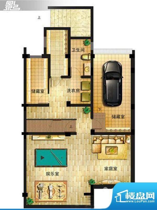 御景龙庭E7户型地下面积:0.00平米