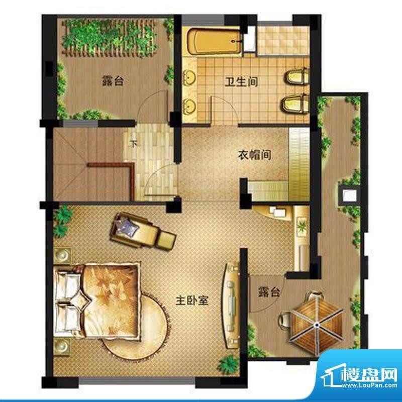 御景龙庭E7户型三层面积:0.00平米