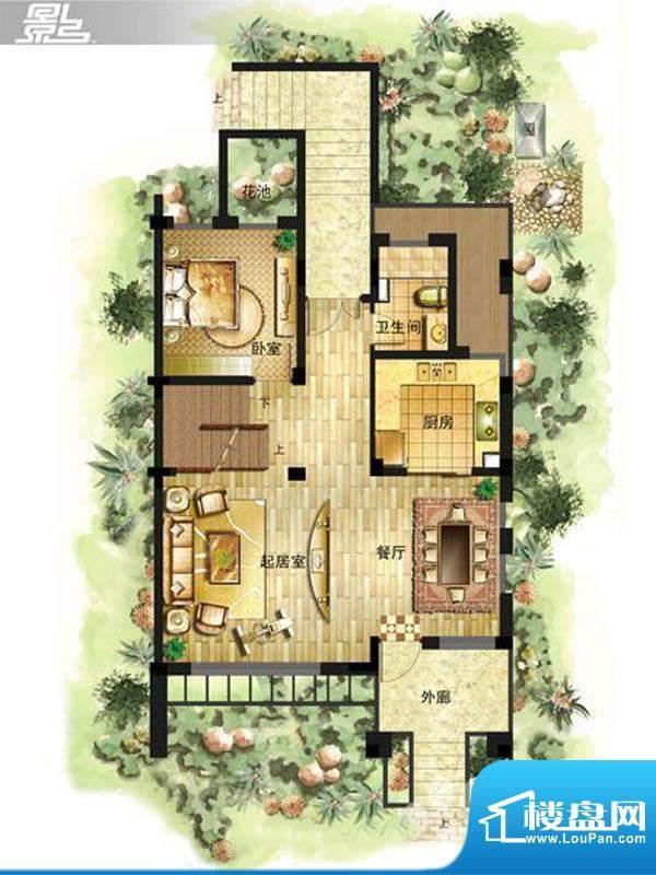 御景龙庭E7户型一层面积:0.00平米