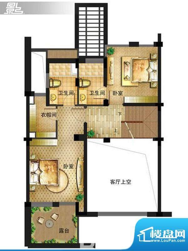 御景龙庭E8户型二层面积:0.00平米