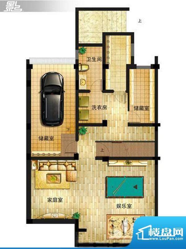 御景龙庭E8户型地下面积:0.00平米