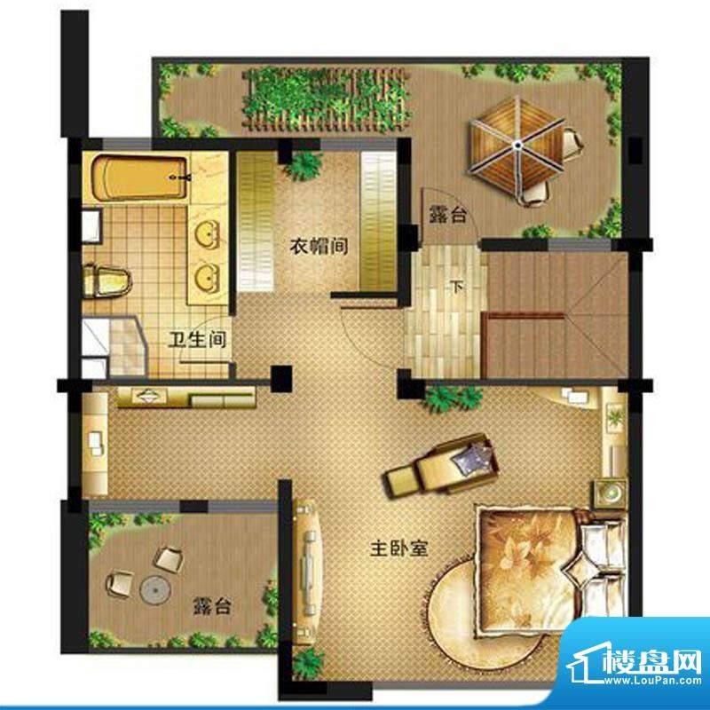 御景龙庭E8户型三层面积:0.00平米