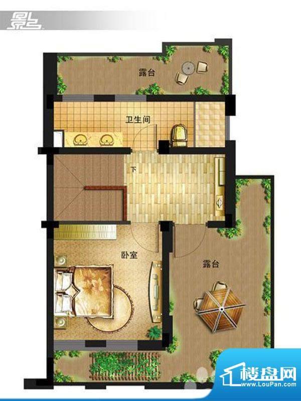 御景龙庭E9户型三层面积:0.00平米