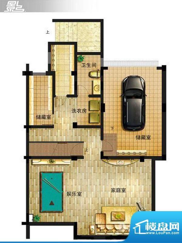御景龙庭E9户型地下面积:0.00平米