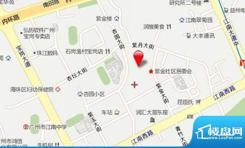 越秀·可逸锦苑交通图