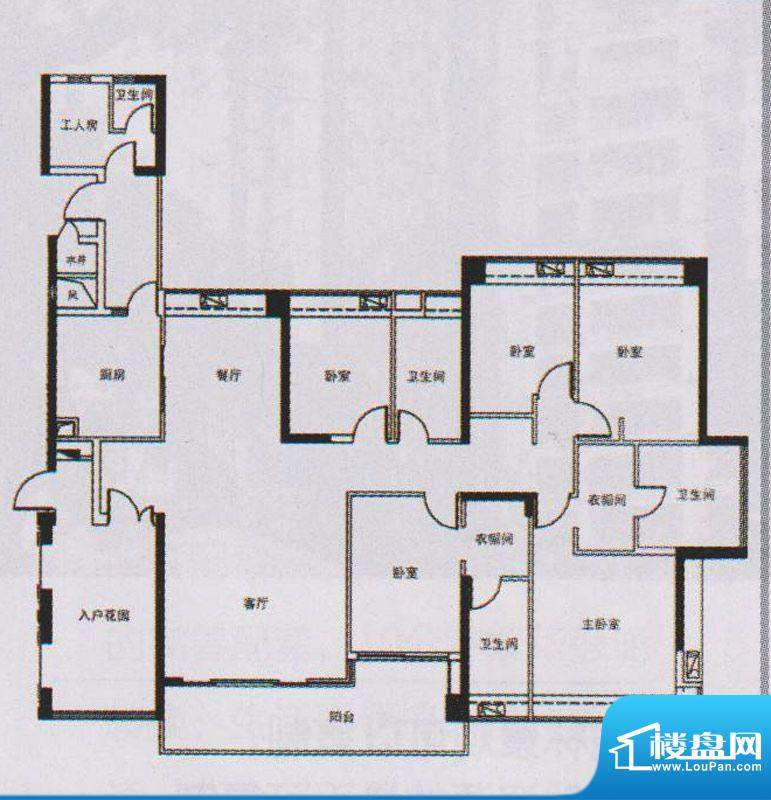 越秀·可逸锦苑A1栋面积:225.00平米